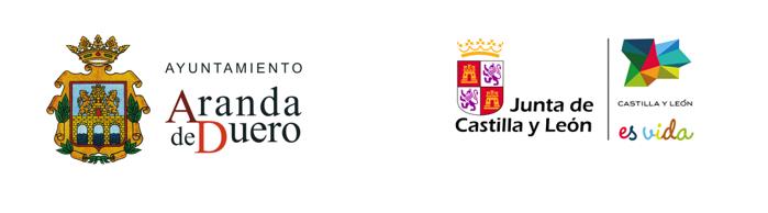 Logos del ayuntamiento de aranda de duero y la justa de castilla y leon